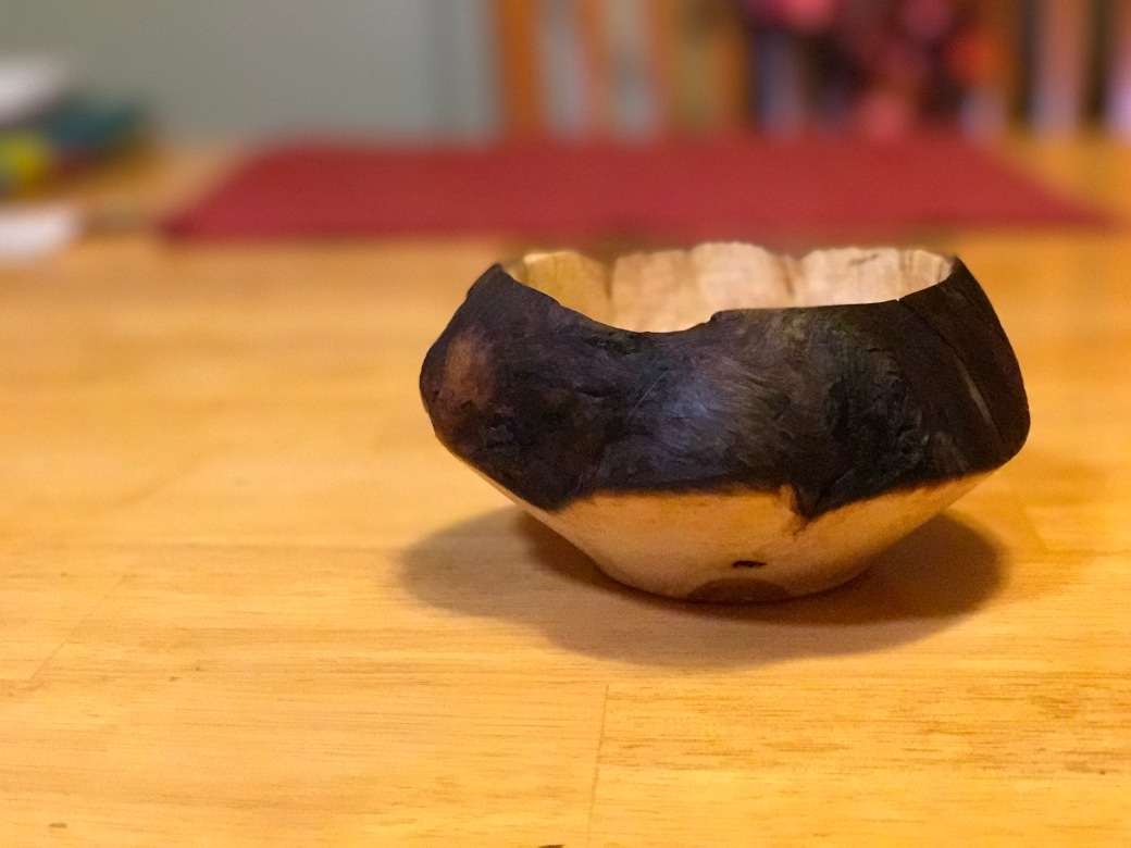 Hand made bowl from a burl.